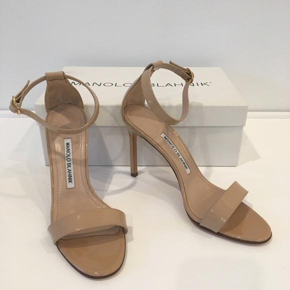 ca13c72befb8 Manolo Blahnik Nude Chaos Sandals Heels 36 New